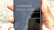 Neues iPhone mit Quadratkamera fotografiert Samsung Galaxy Note10+