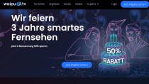 Waipu.tv-Geburtstagsaktion: Sechs Monate smartes TV zum halben Preis