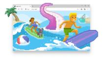 Easter-Egg in Edge: Jetzt kann man mit dem Microsoft-Browser surfen
