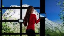 Monitore drahtlos zu Video-Wand zusammenschalten