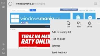 Windows 10: Spartan-Browser zeigt sich erstmals in mobiler Version