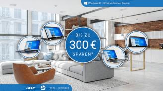 NBB: Bis zu 300 Euro zusätzlich sparen bei Acer- und HP-Notebooks
