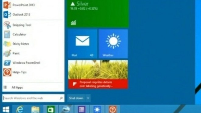 Startmen�, Build 2014, Windows 8.1 Startmen�