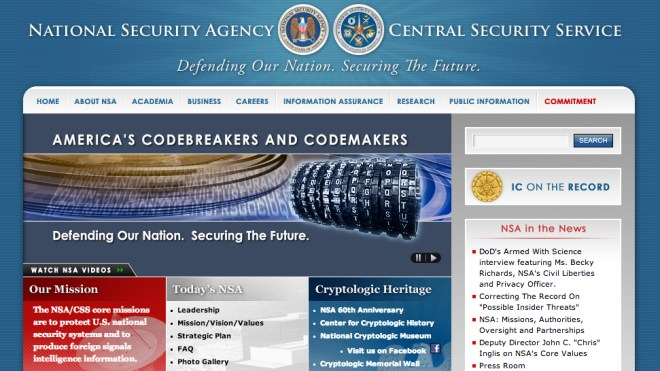 Nsa, Webseite, Homepage