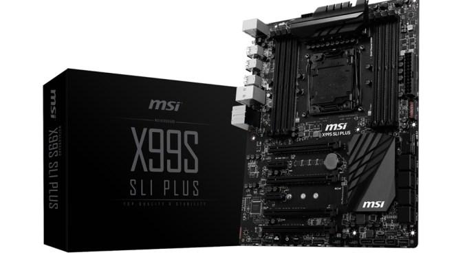 Mainboard, Msi, X99S SLI PLUS