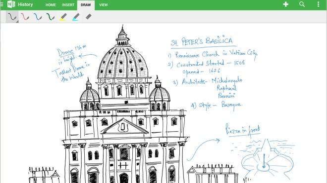 Android, App, OneNote, handschrift