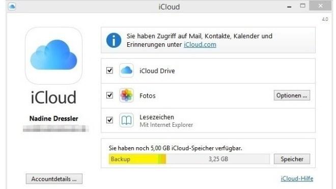 Windows, iCloud, iCloud Drive
