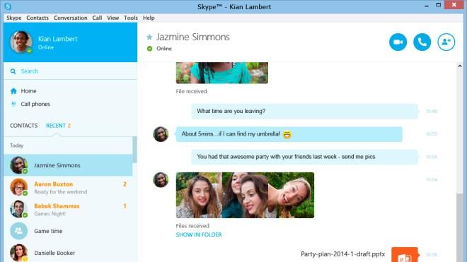 Update, Skype, Ui, Skype f�r Windows