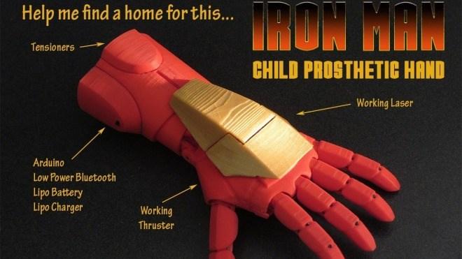 3D-Druck, Hand, Prothese, Iron Man, Pat Starace