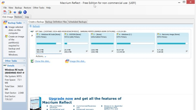 Festplatte, Backup, Macrium Reflect, Macrium Reflect Free