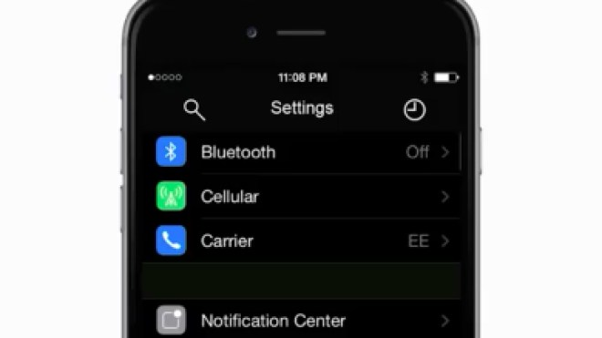 Konzept, iOS 9, Nachtmodus