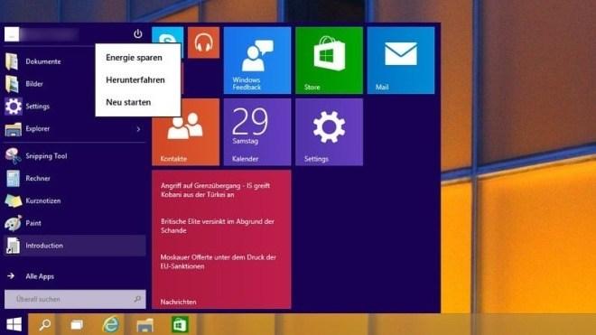 Windows 10, Windows 10 deutsch, Windows 10 Techical Preview Build 9888