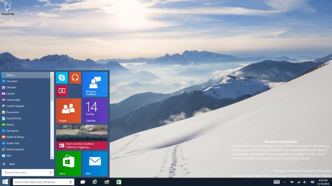 Windows 10, Windows 10 Technical Preview, Windows 10 Build 9901, Windows 10 Technical Preview for Consumers