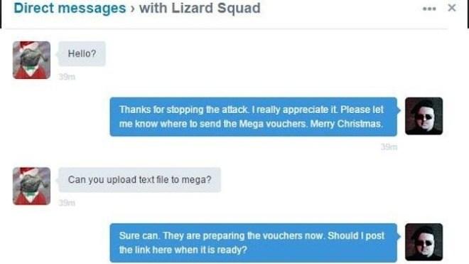 Hacker, Angriff, Kim DOTCOM, Messaging, Lizard Squad