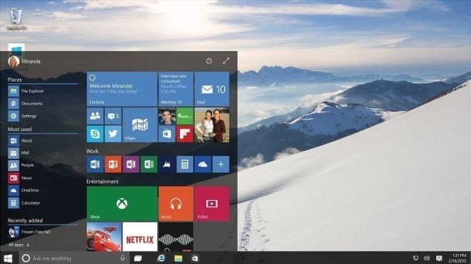Windows 10 Technical Preview, Windows 10 Build 9926, Windows 10 January Preview, Windows 10 Januar Preview, Windows 10 Startmen�