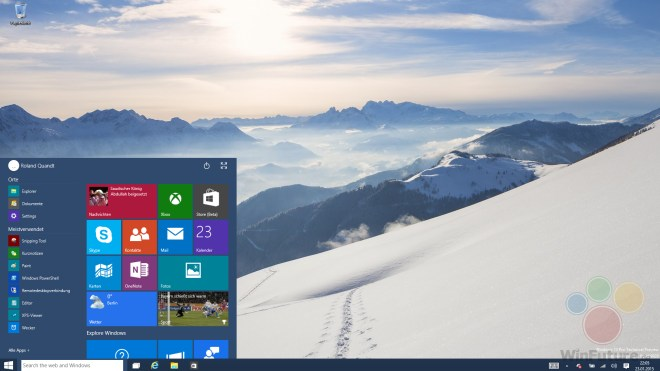 Windows 10 Technical Preview, Windows 10 Consumer Preview, Windows 10 Build 9926