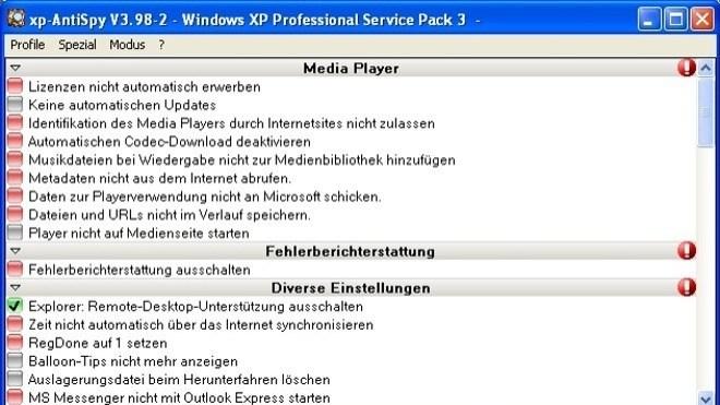 Windows, Antispy, xp-AntiSpy, Xp Antispy