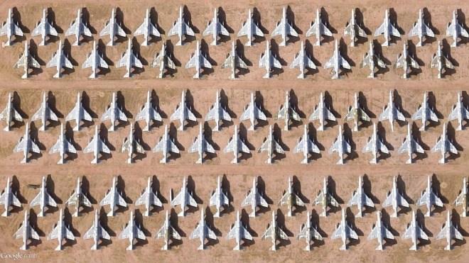 Satellit, Google Earth, Milit�r, Satellitenbilder, Krieg, US-Milit�r, Flugzeuge, Jets, Kampfjets, Flugzeugfriedhof