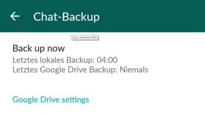 Android, App, Messenger, whatsapp, Backup, sicherung