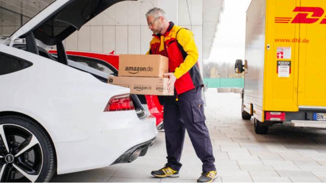 Amazon, Auto, Zustellung, DHL, Pakete