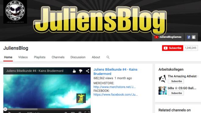Youtube, Julien Sewerin, JuliensBlog