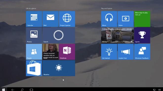 Windows 10, Leak, Windows 10 Build 10125, Tablet Modus