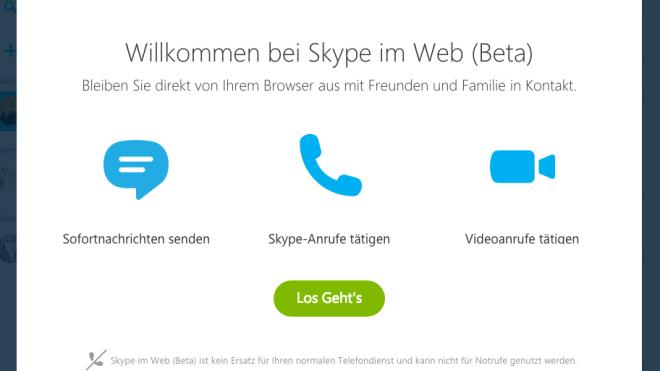 Microsoft, Beta, Skype, Skype For Web, Skype im Web