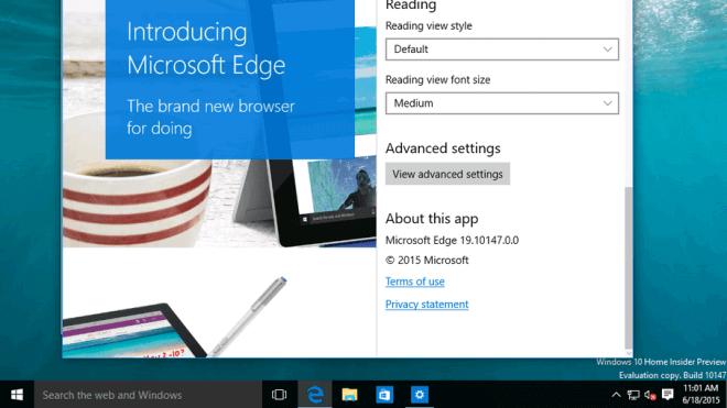 Windows 10, Browser, Edge, Microsoft Edge, Spartan, Spartan Browser, project spartan, Projekt Spartan, Microsoft Spartan, Microsoft Browser, Build 10147