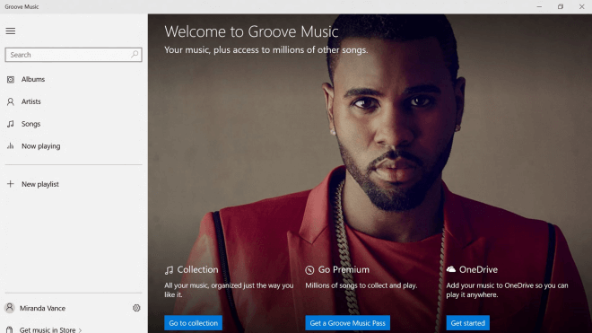 Windows 10, App, Musik-Streaming, xbox music, Groove