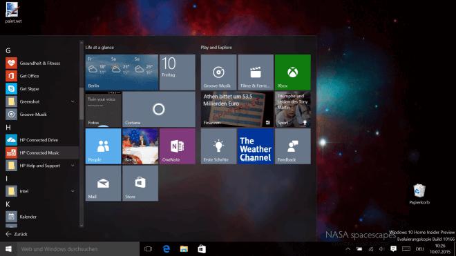 Microsoft, Betriebssystem, Windows 10, Windows 10 Technical Preview, Windows 10 Insider Preview, Technical Preview, Build 10166, Windows 10 Build 10166
