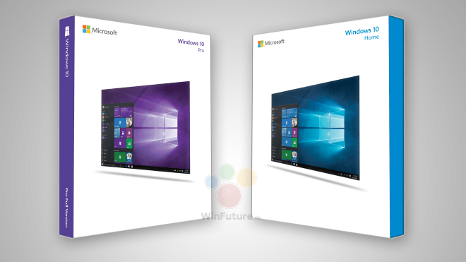 Windows 10, Retail, Verpackung, Boxshot, Windows 10 Boxshot