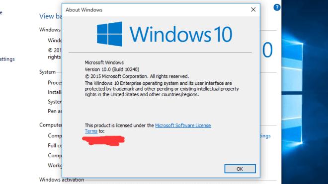 Windows 10, Windows 10 RTM, Windows 10 Final, Windows 10 Build 10240