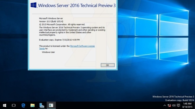 Microsoft, Server, Windows Server, Windows Server 2016, Technical Preview 3, Build 10514
