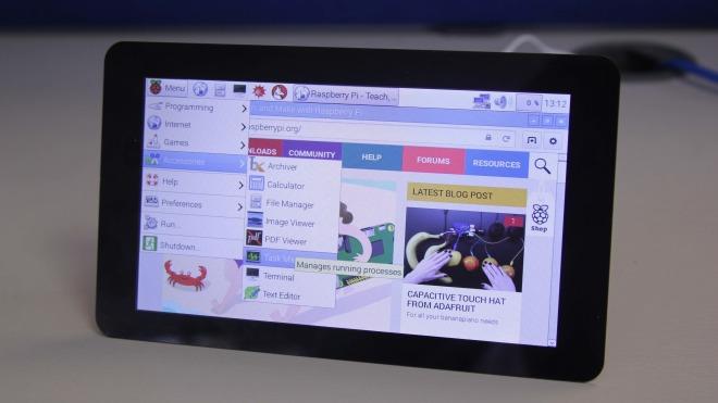 Display, Touchscreen, mini-pc, raspberry pi, minirechner, mini-rechner, Raspberry PI 2