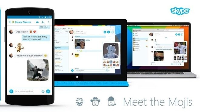Skype, Emoji, Mojis