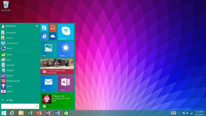 Startmen�, Windows RT 8.1 Update 3, Windows RT Startmen�, Windows RT 8.1 Startmen�
