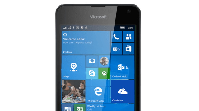 Windows 10 Mobile, Windows 10 Smartphone, Microsoft Lumia 650, Lumia 650