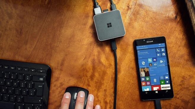 Windows 10 Mobile, Continuum, Windows 10 Continuum, Display Dock, Microsoft Display Dock HD-500, Microsoft Display Dock, Continuum Dock