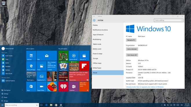 Windows 10, Windows 10 Insider Preview, Windows 10 Herbst Update, Windows 10 Fall Update, Windows 10 Build 10586, Windows 10 November Update, Windows 10 Insider Preview Build 10586
