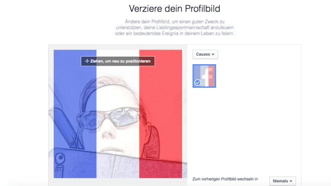 Facebook, Frankreich, Paris, profilbild, Solidarität