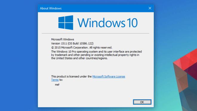 Microsoft, Betriebssystem, Windows 10, kumulatives Update, Build 10586.122