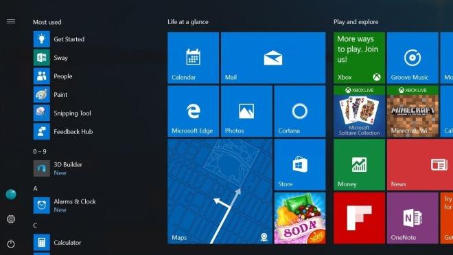 Windows 10, Design, Windows 10 Redstone, Startmen�, Windows 10 Anniversary Update, Startscreen, Konzept, Windows 10 Startmen�