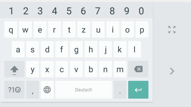 Einhandmodus, Android Keyboard, Google Keyboard, Google Tastatur, Einhand-Keyboard