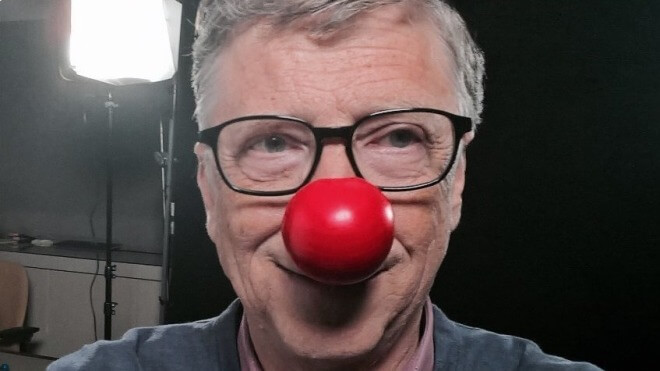 Bill Gates, Red Nose Day, Rote Nase