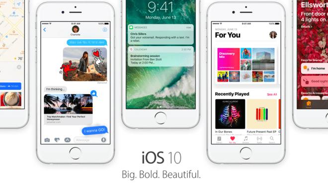 Betriebssystem, Apple, iOS 10