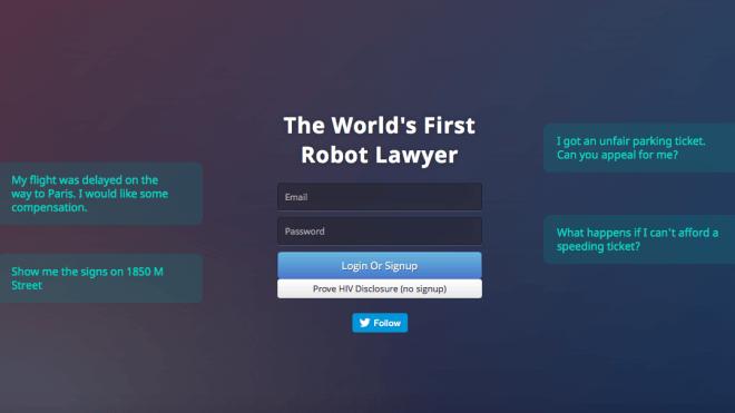 Roboter, Anwalt, Chatbot, Falschparker