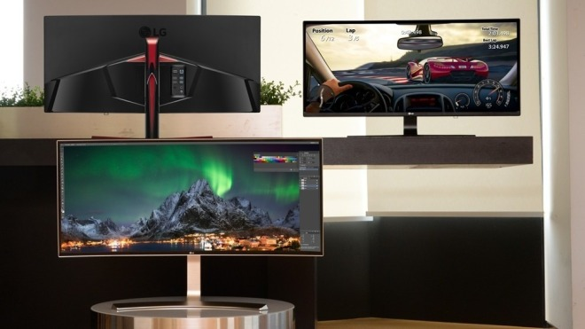 LG, Monitor, LG Display, curved, Curved Display, Bildschrim