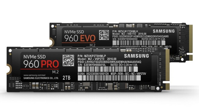 Samsung, Ssd, Samsung 960 EVO, Samsung 960 PRO, Samsung 960