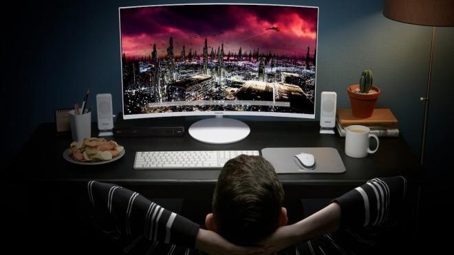 Samsung, Display, Monitor, gebogenes Display, curved, Samsung CH711