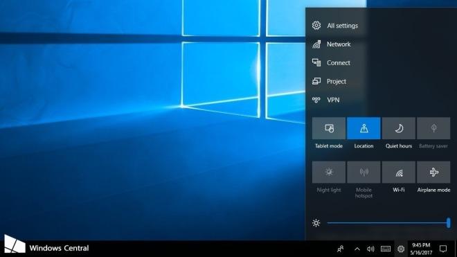 Microsoft, Windows 10, Design, Interface, Ui, Benutzeroberfläche, Oberfläche, Fall Creators Update, Windows 10 Redstone 3, Control Center